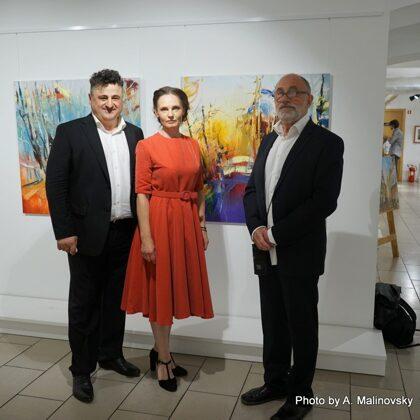 Ar burvīgiem kolēģiem, izciliem māksliniekiem Gocha Huskivadze un Aleksandrs Sahovs