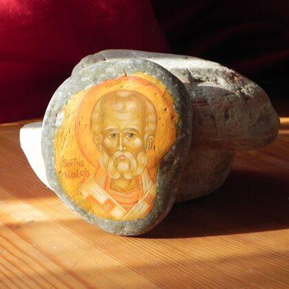 ikona uz akmens