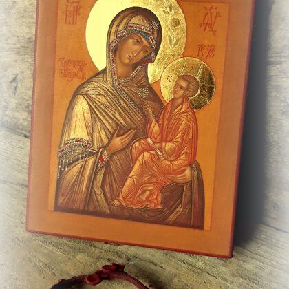 Tihvinas Dievmātes ikona. 17x13,4cm
