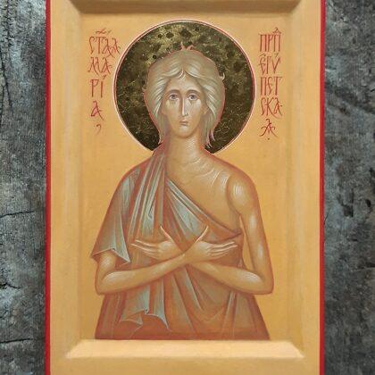 Svētā Sirdsskaidrā Ēģiptes Marija. 18x12,5cm