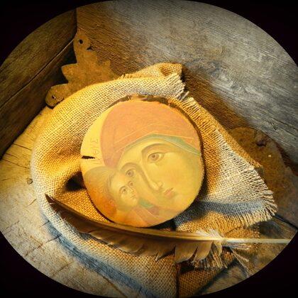 Jēzus Kristus Dieva Dēls Glābējs. 12,5x12,5cm