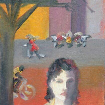 """""""Vientulība"""". Kartons, elļa. 2009"""