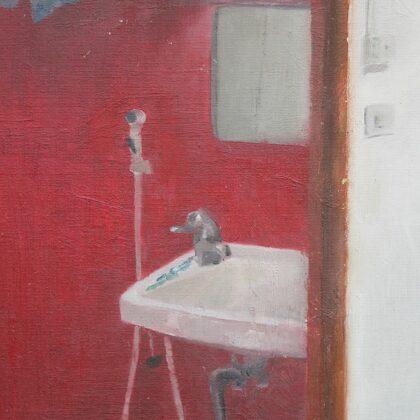 Kuģa kajītē. Audekls, eļļa. 2010