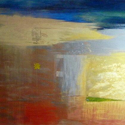 """""""Rudens"""". Audekls, eļļa, akrils. 1,20x85cm. 2014"""