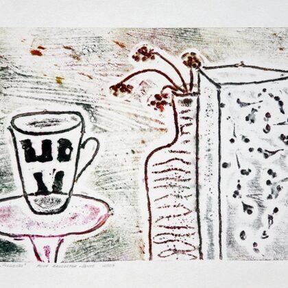 """""""Pusdienas"""". Kologrāfija. 40,5x23cm. 2007"""