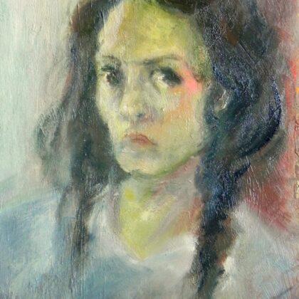Pašportrets. Kartons, eļļa. 2016