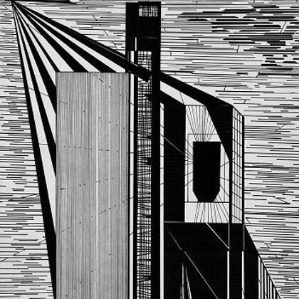 """""""Čeizs"""", papīrs,tuša, 40x30cm, 2005"""