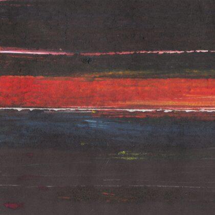 """""""Horizonts. Tumšie ūdeņi"""". Monotipija"""