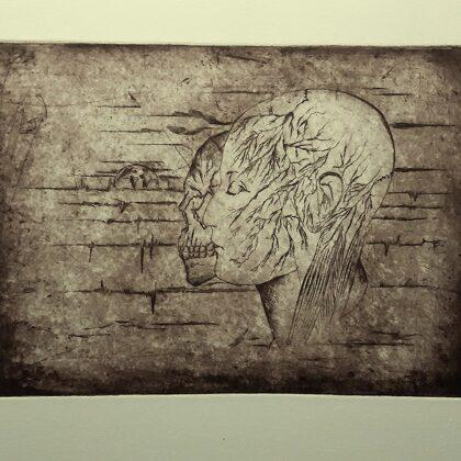 """Laika cilpa"". Oforts. 32x24,5cm. 2020"