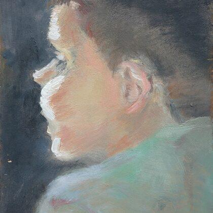 Dēls. Kartons, eļļa. 2007