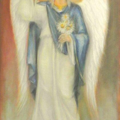 """""""Erceņģelis Gabriēls"""". Audekls, elļa. 1,16x73cm. 2015"""