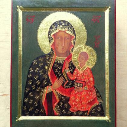 Čenstahovas Dievmātes ikona. 25x20cm