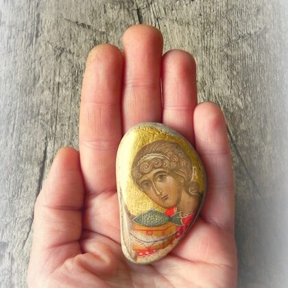 icons - miniatures on stone