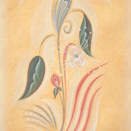 """""""Life"""". Paper, egg tempera. 23,7x15,5cm. 2020"""