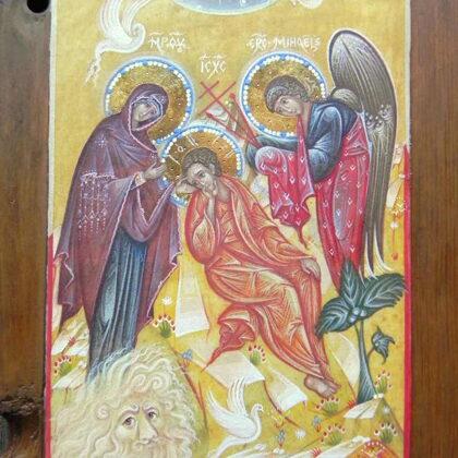 Kristus Modrā Acs 22x16,5cm