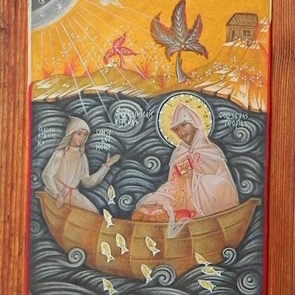 Sv.Kijevas Teofils, paklausībnieks Panteleimons 22x16,5cm