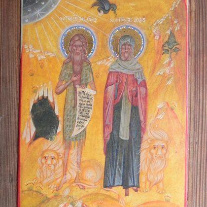 Sv.Tibērijas Pāvils un Sv.Antonijs Lielais 22x16,5cm